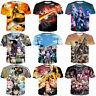 New Women Men Fairy Tail Anime Print Casual 3D T-Shirt Short Sleeve Tee Tops