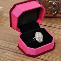 Anillos de boda señora anillo de compromiso de plata joyas de cristal tamaño6-11