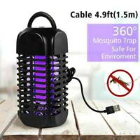 Electric Fly Zapper Mosquito Killer Bug Insect Pest LED Lamp USB Trap Control US