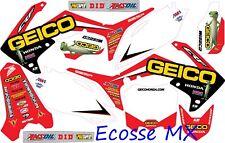 Honda CRF450R 2009-2012 NEW DCOR GEICO Graphics Stickers Decals Motocross