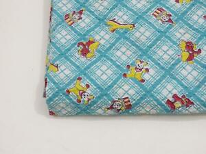 Vintage 1930s Fabric Yardage 1940s Novelty Print Child Toy Baby Cotton 3+ Yards