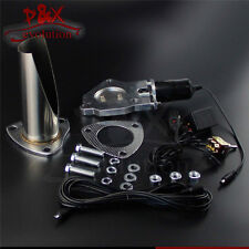 """2.25"""" Inch 57mm Electric Exhaust Cutout Switch Control Cut Pipe Stainless System"""