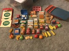 Vintage Fisher Price Little Tikes Fun With Play Fruit Containers HUGE LOT TRAYS