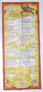 Menu Ristorante Da Meo Patacca - Roma - Lista del giorno - anni '60