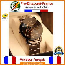 """Montre Femme Bracelet Acier Inoxydable """" Diamant """" 32mm Watch Cadeau Design Mode"""