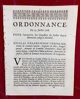 Beaucaire 1708 Fourques  Saint Gilles Chaussées du Rhône Sylvéréal Languedoc