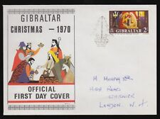 Gibraltar 1970 FDC Christmas Issue