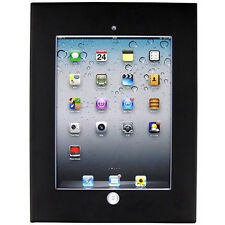 Black Anti Theft Secure Enclosure Case Wall Mount Cabinet Apple iPad 2 3 4 Air