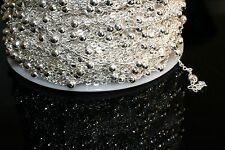 15ft 2x2m Brass Silver Ball Cable Chain links-soldered 1-3 day Ship