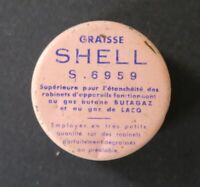 Boite GRAISSE SHELL S6959 Butagaz Gaz de Lacq oil can bidon