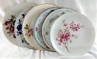 6 Vintage Mismatched China Salad Plates Meissen Moss Rose Limoges  Florals 23
