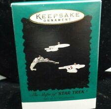 1995 Hallmark Star Trek Miniature Ornament Set of 3 Star Trek Ships New Nib