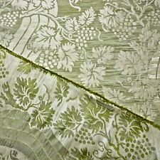9 yds Lee Jofa Green Reversible 100% Silk Damask Multi Purpose Fabric $ave 75%