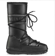 Moon Boot Womens High Nylon Waterproof Snow Calf Skiing Winter Boots - Black 10