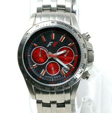 Jacques Lemans F5006K F1 Chronograph Women's Red Stainless Steel Watch Swiss
