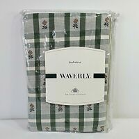 Waverly Luxury Collection Twin Bedskirt Highgrove Loden Plaid Green 39x75 NEW