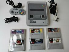 Super Nintendo SNES Console With 6 Games Controller Power and RF Complete Setup