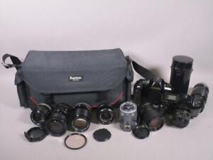 2 x Canon T90 Kamera mit verschied. Objektiven + Tasche  1M5350