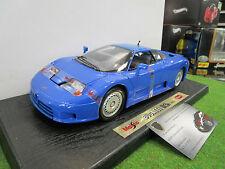 BUGATTI EB110 Coupé bleu au 1/18 de MAISTO 31808 voiture miniature de collection