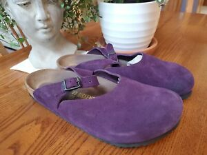 BIRKENSTOCK~Maria~Mary Jane Clogs L6 Eu 42 US 10.5-11 Purple/Lavender, Suede
