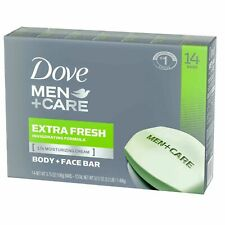 Dove Men+Care Body and Face Bar Extra Fresh (3.75 oz., 14 ct.)Clear and Clean