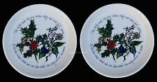 PORTMEIRION HOLLY AND IVY SET OF 2 SWEET DISHES COASTERS