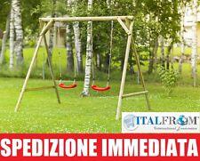 Altalena da Giardino per Bambini Giochi in Legno di Abete Nordico ITALFROMBABY05
