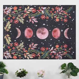 Moon Starry Sky Tapestry Room Flower Wall Hanging  Home Art Decor Tapestries