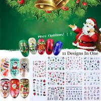fingernagel. weihnachten abziehbild wasser übertragen. nail art aufkleber