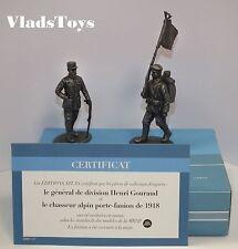 Atlas 1/24 WW1 Gen. Henri Gouraud & Mountain Soldier Standard Bearer 2595-017