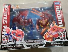 Takara Tomy Transformers Animated Sons of Cybertron Optimus Prime & Rodimus.