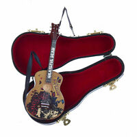 Kurt Adler Grateful Dead Mini Wood Guitar & Case Christmas Tree Ornament Gift