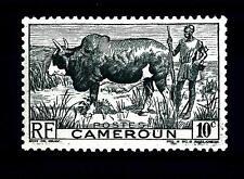 CAMEROUN - CAMERUN - 1946 - Zebu and Herder - 10 cent.