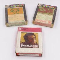 8 Track Johnny Mathis Malo Santana Kenny Loggins Jim Messina New Lot of 3