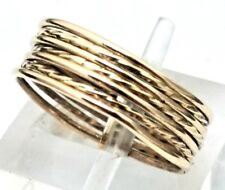 Set Of Seven 14 Karat Yellow Gold High Polished & Twisted Stackable Rings