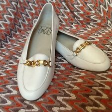 JOAN AND DAVID HANDMADE ITALY WHITE LOAFERS SZ 8  NWOT!!!!!