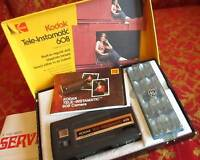 VINTAGE KODAK TELE-INSTAMATIC 608 CAMERA, INSTRUCTIONS & PAPERWORK STRAP BOX