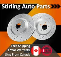 2004 2005 2006 For Acura MDX Coated Drilled Slotted Front Rotors 300mm