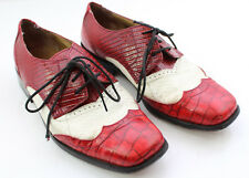 Stacy Adams Shoes Snake Skin Red and White Size 7M Mens 23051-33