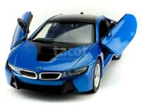 BMW I8 COUPE 1:24 Scale Diecast Model Toy Car Die Cast Miniature I 8 Blue