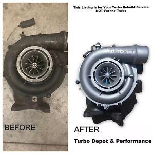 Turbo Rebuild SERVICE Garrett Chevy 6.6L Duramax LBZ LLY LMM LML from 2004-2016