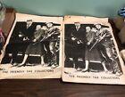 Lyndon B Johnson Humphrey First Lady Tax Collectors Gun Poster Flyer 2 Lot LBJ