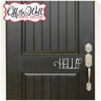 Hello Front Door Decal | Farmhouse Door Decor | Hello Door Decal | HD02