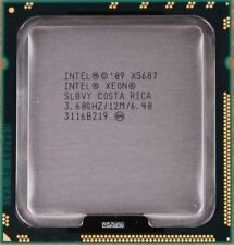 Lot of 2 Intel Xeon X5687 3.6 GHz 12 MB Quad-Core Socket 1366 CPU Processor