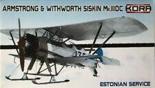 Kora Hi-Kit 1/72 Model Kit 72114 A&W SISKIN Mk.IIIDC Estonian Service on ski's