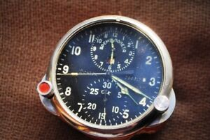 OLD AVIATION CLOCK FOR RUSSIAN AIRCRAFT. RARITY. LIMITED EDITION