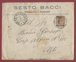 busta e annullo frazionario SPIANATE storia postale Regno Michetti ISOLATO 1922