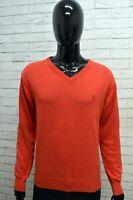 Maglione Uomo GANT Taglia XL Felpa Pullover Sweater Man Cotone Rosso Cardigan