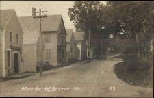 West Buxton ME Main St. Homes c1910 Real Photo Postcard bh16