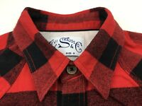 LEVI STRAUSS & Co Men's Long Sleeve Classic Fit Plaid Flannel Shirt size Small
